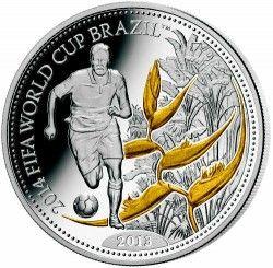 6278 Samoa 2013 Prata Copa do Mundo 2014 Manaus - com detalhe em ouro