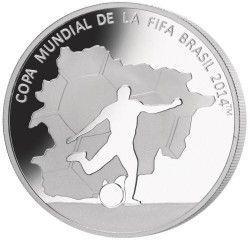 6293 Andorra 2012 Prata Copa do Mundo 2014 JOGADOR de FUTEBOL