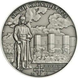 6329 ILHAS Cook 5 $ 2014 Prata Antique finish CRUZADAS VI Frederico II