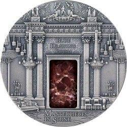 6335 Fiji 10 $ 2014 Prata Antique Finish 3 OZ com pedra rara :: Palácio de Buckingham
