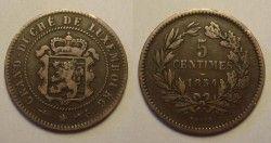 0635 ¤ESCASSA¤ LUXEMBURGO 5 Cent 1854