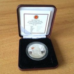 6371 ::RARISSIMA:: Sri Lanka 2000 Rupees 2011 Prata Proof 38,61 mm  Ananda College apenas 1500 exemplares!