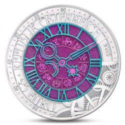 6396 Áustria 25$ 2016 prata com Niobio Relógio do tempo