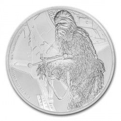 6470 Niue 2$ 2017 prata proof - série Star Wars CHEWBACCA