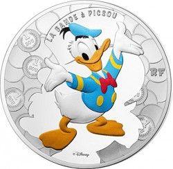 6480 França 10 euros 2017 prata proof Ø37mm Personagens Duck tales - DONALD