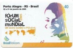 CT0020 Cartão Brasil Telecom - Forum Social Mundial 2005 - 01/2005