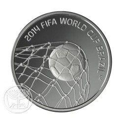 6222 Israel $1  2013 Prata Proof Copa do Mundo 2014 Apenas 1800 no Mundo!!