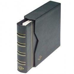 Álbum para moedas ou cédulas NUMIS em couro legítimo com estojo protetor.