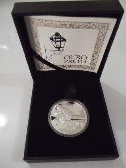 5582#  5 Reais PRATA 40mm - 300 Anos de OURO PRETO - Série UNESCO