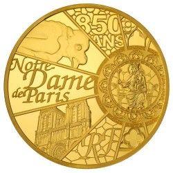 6156 França 200 Euros 2013 Ouro Proof  1 Onça - 31.1gr.  UNESCO - 850 Aniversário de Notre Dame