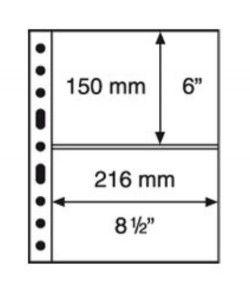 GRANDE 2C - Folhas sistema GRANDE (Fundo transparente) Formato 240x312mm. Pacote de 5 unidades