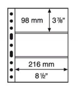 GRANDE 3C - Folhas sistema GRANDE (Fundo transparente) Formato 240x312mm. Pacote de 5 unidades