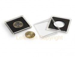 QUADRUM 15# Capsula acrílica QUADRUM p/ moedas de Ø15mm LEUCHTURM (Importada)
