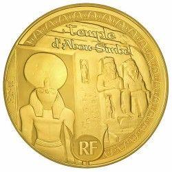 6075 # França 50 Euros 2012 Ouro Proof Ø22mm Patrimonio da Unesco: Templo de Abu Simbel