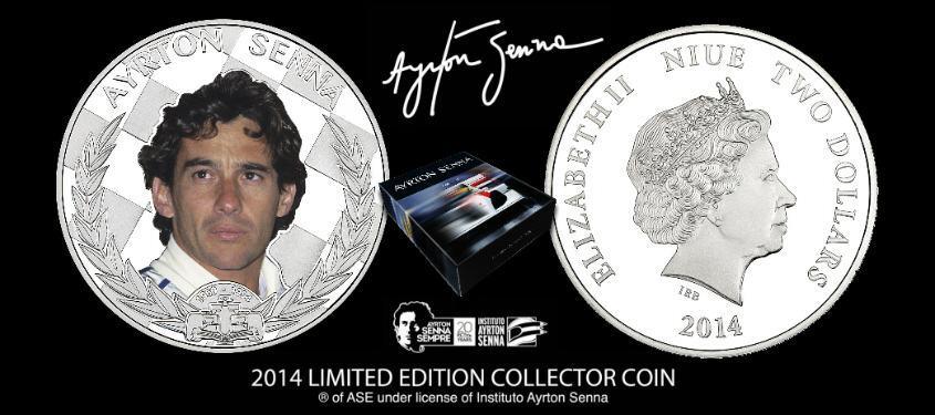Ayrton Senna $2 dollars Prata 2014