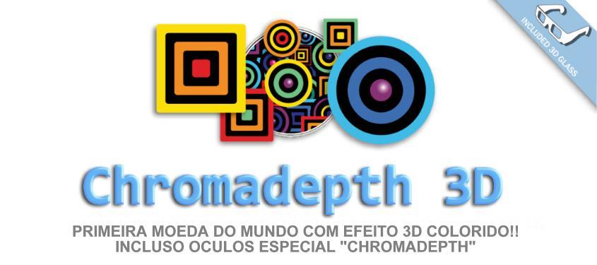 Moeda 3D Chromadepth